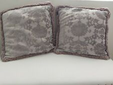 Set of 2 Hanover Silver Paoletti  Cushion covers + pads. 45 x45cm. Good cond.