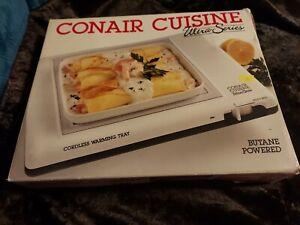"CONAIR  - PORTABLE 12"" X 9""  cuisine cordless warming tray - butane powered"