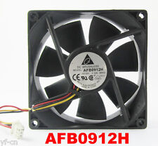 1x DELTA AFB0912H 9025 92mmx92mmx25mm 12V 0.3A 51CFM DC Cooling Fan 3P Connector