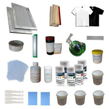 Screen Printing Materials Kit 1 Color Press Hand Tools Screen Frame Scraper Ink