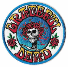 Grateful Dead Skull and Roses Logo Iron On Appliqué