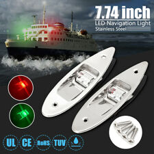 2pcs Marine Boat LED Side Navigation  Red Green Flush Mount Side  .! D