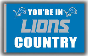 Detroit Lions You're in LIONS Country Football Flag 90x150cm 3x5ft best banner