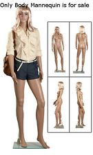 Female Plastic Mannequin Size 6 with Clear Glass Base and Wig
