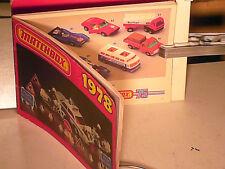 CATALOGUE MATCHBOX 1978 : SERIE 1-75 / KING SIZE/ YESTERYEAR/ AVIONS/ BATEAUX