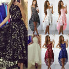 Womens Lace Bridesmaid Wedding Long Dress Gown Cocktail Party Sling Mini Dresses