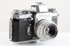 VERGINI Edixa-Mat Flex S 35mm Pellicola SLR Camera con Cassar S f2.8 50mm Lens