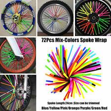 72Pcs Spoke Wraps Mix colors  BMX Mountain Bike Bicycle MTB Wraps Skins Covers
