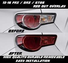Red Out Tail Light Overlay for 2012 2016 BRZ FRS Scion Subaru Toyota GT86 86