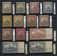 GERMANY TOGO 1900-1919 Michel 7-18 MH (9 Used) CV€47.20