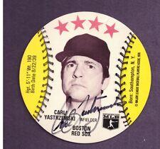 1976 Orbaker's Disk ~ CARL YASTRZEMSKI ~ Autograph ~ Auto !!