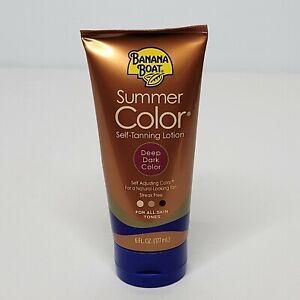 Banana Boat Summer Color Self-Tanning Lotion Deep Dark All Skin Tones 6 fl oz