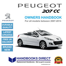 Peugeot 207cc Car Owners Handbook Manual (2007 to 2014) NEW ** FREE GIFT **