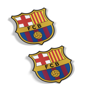 FC BARCELONA DECALS, STICKERS, (SET OF 2), QUALITY 3M