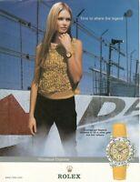 Original Advertising' Rolex Watch Cosmograph Daytona The Legend