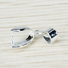 20x Silver Pendant Pinch Bail DIY Craft Necklace Jewelry Making Supply 23mm