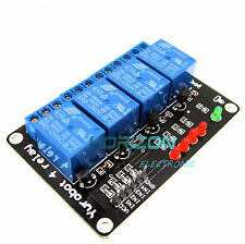 2pcs 12V Four 4 Channel Relay Module For PIC AVR DSP ARM MSP430 Arduino