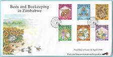 Zimabawe 1998 FDC Bees and Beekeeping 14 Apr