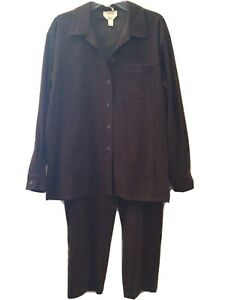 Talbots Women's Outfit -Brown  Stretch Pantsuit Size M  14