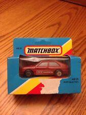 NIP MATCHBOX MB 25 1982 AUDI QUATTRO RED VINTAGE (ORIGINAL  1983)