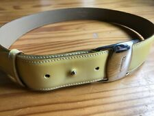 Vintage SALVATORE FERRAGAMO Yellow Leather Belt Small