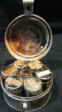 Antique Round  Spice tin with 6 Cans and Grater