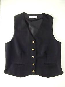Lovely Ladies Waistcoat Size 14 Alexandra Black Lined Very Good con Christmas N2