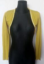 Zara Green Long Sleeve Women's Bolero Size:M Acrylic,Nylon&Elastane