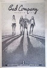 BAD COMPANY - BURNIN' SKY ALBUM. FULL-PAGE ADVERT FROM THE NME PAPER 5/3/77