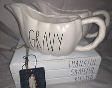 "Rae Dunn by Magenta - Fall / Thanksgiving ""GRAVY"" Gravy Boat ~Ivory ~ LL ~NWT~"