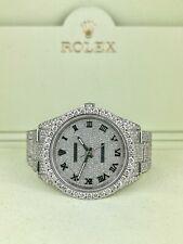 Para hombres Rolex Oyster Perpetual 39mm Iced 20ct Ref:114300 Diamantes Genuinos