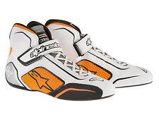 Alpinestars Tech 1-T Race Boots White/Orange Various Sizes Oval/Rally/Autograss