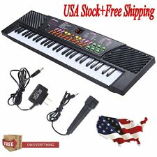 54 Keys Music Electronic Keyboard Kid Electric Piano Organ W/Mic & Adapter GoodJ