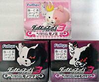 DanganRonpa Noodle Stopper Figure Monomi Monokuma dot all 3 set FURYU JAPAN