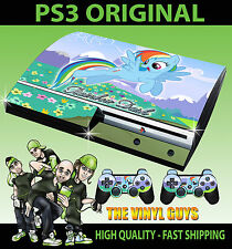 PLAYSTATION 3 CONSOLE RAINBOW DASH MY LITTLE PONY SOLO STICKER SKIN  & PAD SKINS