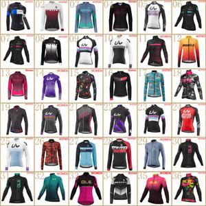 2021 New Cycling Long Sleeve Jersey Women Bike Shirt Bicycle Tops Sports Uniform