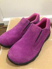 NEW Kid Merrell Girls Purple moc Suede Low Top Slip On Size 3.5 Booties Boots