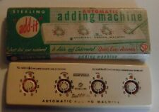 VINTAGE MANUAL PLASTIC  STERLING AUTOMATIC ADDING MACHINE-ADDS & SUBTRACTS