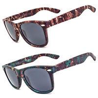 Camouflage Camo Fishing Hunting Military Retro Mens Sport Sunglasses New x