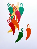 Chili Pepper Die Cut Outs ( Scrap Booking, Confetti, Party Decoration, Collages,