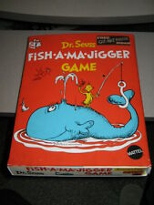 Dr Seuss 1970 Mattel vinyl board game Fish-A-Ma-Jigger Unused Cat in Hat playset