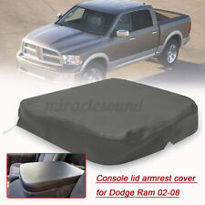Armrest Console Lid Leather Replacement Cover Gray for Dodge RAM 2002-2009