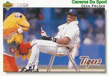 255 CECIL FIELDER DETROIT TIGERS  BASEBALL CARD UPPER DECK 1992
