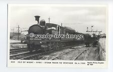 pp2007 - I.O.W. Ryde Steam Train on way to Ventnor, in 1950 - Pamlin postcard