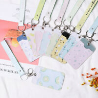 Cartoon Bus Cards Cover Credit Card Bag Badge Case ID Card Holder Keyring Tool