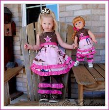 BonEful Boutique NEW RTS Girl 6 Pageant Cow*girl Birthday Twirl Dress Top Capri