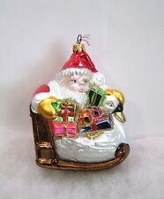 Kurt Adler Polonaise Christmas Ornament Santa On Sled Komozja Nib (P3)