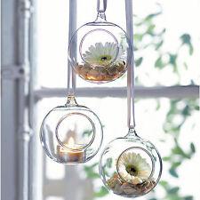 Glas-Teelichthalter zum Hängen 3er-Set, Teelicht-Halter zum Aufhängen (NEU&OVP)