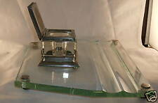 Vintage Cut Glass Ink Well with 2 pen holder base