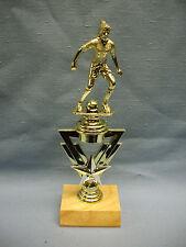 SOCCER trophy female star riser award wood base